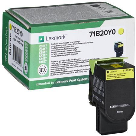 71B20Y0 toner do tlačiarne CS317/417/517, LEXMARK, žltá, 2,3k (return)