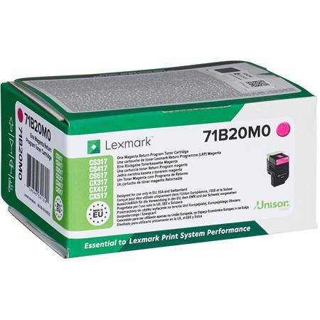 71B20M0 toner do tlačiarne CS317/417/517, LEXMARK, magenta, 2,3k (return)